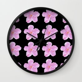 Pink Hibiscuses Wall Clock