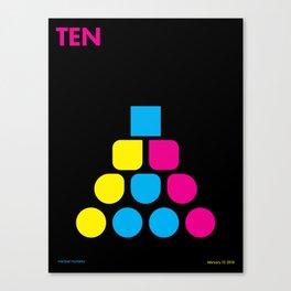 Ten Canvas Print