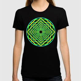Diamonds in the Rounds Blacklight Neons Yellow Greens T-shirt