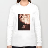 dandelion Long Sleeve T-shirts featuring dandelion by Ingrid Beddoes photography