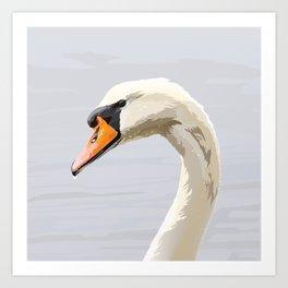 Elegance: Swan Art Print