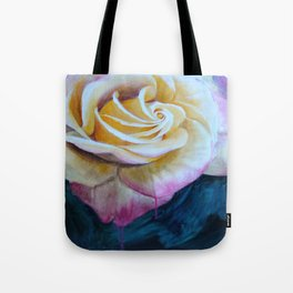 Pink and Yellow Rose painting Tote Bag