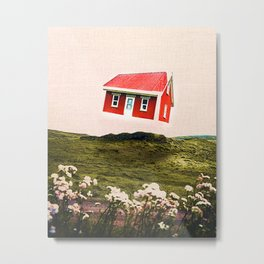 The Floating Cabin Metal Print