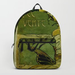Vintage Parisian Green Fairy Absinthe Advertisement Backpack