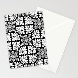 Tiger's Den / PATTERN/BLACK ORNAMENT Stationery Cards