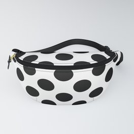 Polka Dots, Spots (Dotted Pattern) - White Black Fanny Pack