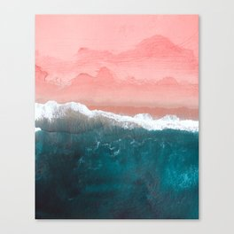 Turquoise Sea Pastel Beach II Canvas Print