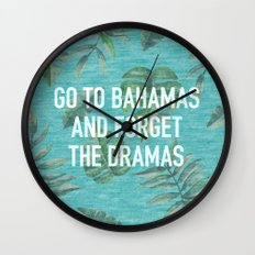 Go to Bahamas Wall Clock
