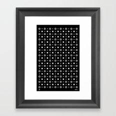 Dots / Black Framed Art Print