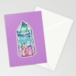 Fluorite Crystal Point Stationery Cards