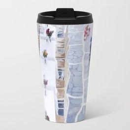 Greece street Travel Mug