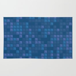 november blue geometric pattern Rug