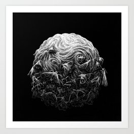 Scratchboard #9 Moths Art Print