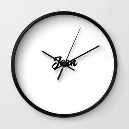 Jean Custom Text Birthday Name Wall Clock