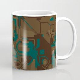 Peacock and Brown Coffee Mug