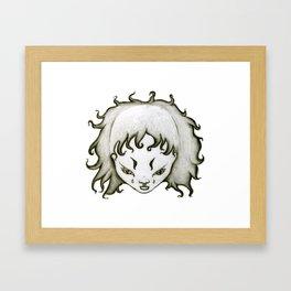 Lion Girl Framed Art Print