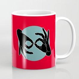 Sign Language (ASL) Interpreter – Black on Turquoise 01 Coffee Mug
