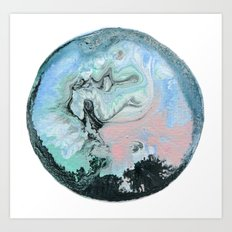 Marble water Ball Art Print
