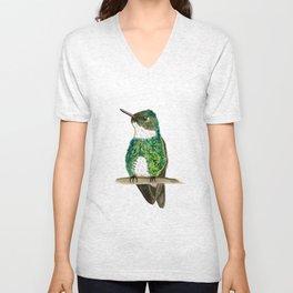 White-throated Hummingbird Unisex V-Neck