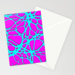 Hot Web pink, turquoise Stationery Cards