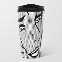 Crying-Girl02 B&W Travel Mug