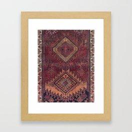 Traditional Vintage Moroccan Carpet Design Framed Art Print