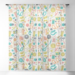 Get Crafty Sheer Curtain