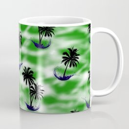 Green Beach Pattern Coffee Mug
