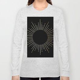 Sunburst Gold Copper Bronze on Black Long Sleeve T-shirt