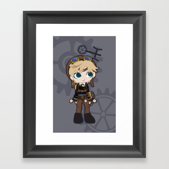 Steampunk Sailor Uranus - Sailor Moon Framed Art Print