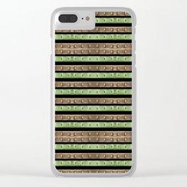 Camo Stripes Print Clear iPhone Case