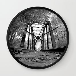 Pegram Truss Bridge - Ogden, Utah Wall Clock
