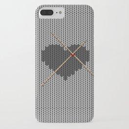 Original Knitted Heart Design iPhone Case