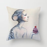 once upon a  time Throw Pillows featuring Once upon a time... by Zina Nedelcheva