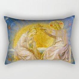 """Fra Angelico (Guido di Pietro) """"The Coronation of the Virgin (tondo)"""" c.1395 Rectangular Pillow"""