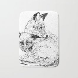 Foxes napping Bath Mat