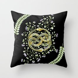 Neverending Story Inspired Auryn Garden in Black Throw Pillow
