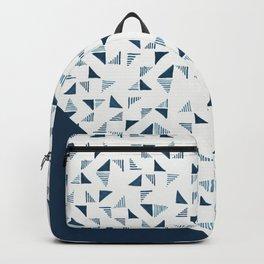 Indigo Triangles #society6 #pattern #indigo Backpack
