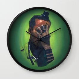 Untitled (soldier, green) Wall Clock