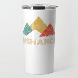 Retro City of Bismarck Mountain Shirt Travel Mug