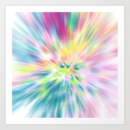 Pastel Explosion Tie Dye Abstract Art Print