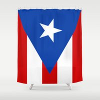 puerto rico Shower Curtains featuring Puerto Rico by McGrathDesigns
