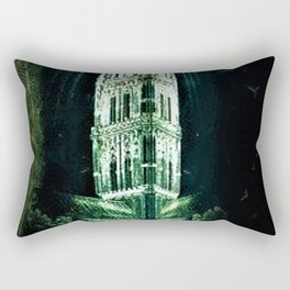 Memorial Glass Prism Engraving at Salisbury Cathedral by Rex Whistler Rectangular Pillow