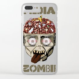 Media Zombie Clear iPhone Case