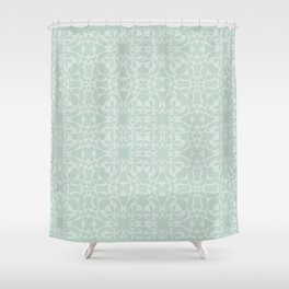 Vintage Look Mint Pattern Shower Curtain