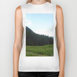 green beautiful nature Biker Tank