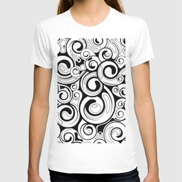 Pattern of round shells T-shirt