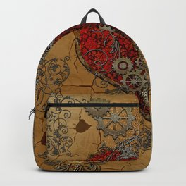 Steampunk, awesome heart Backpack