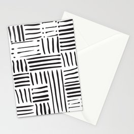 Weave in Black Stationery Cards