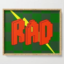 Word Art - Rad Serving Tray